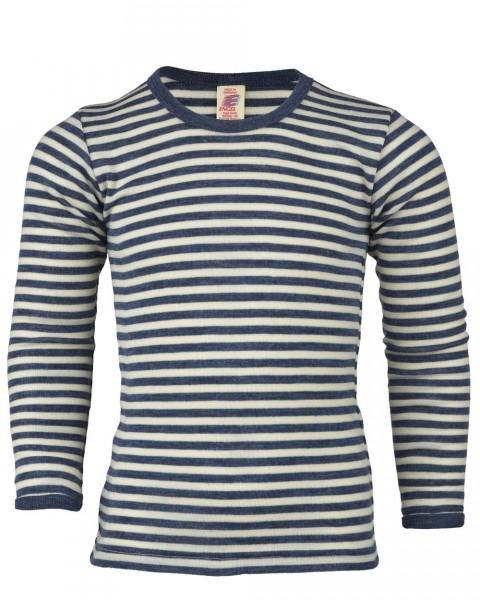 Kinder Unterhemd langarm, Engel Natur, 100% Wolle (kbT), 2 Farben