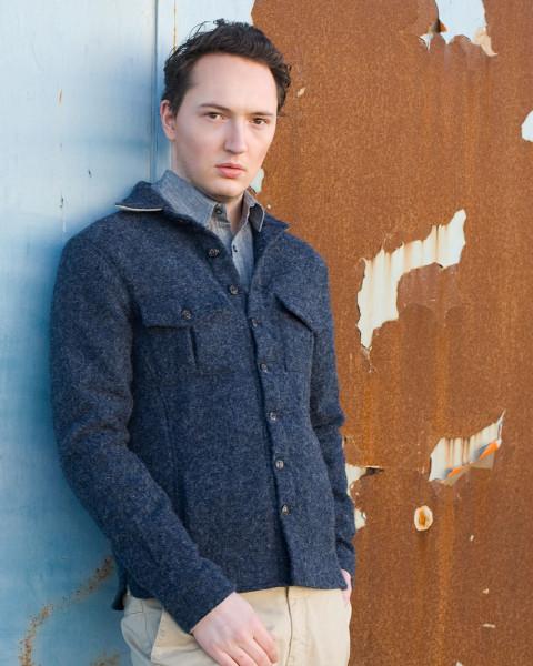 Peregrine, Wollwalk Hemd, 100% Wolle
