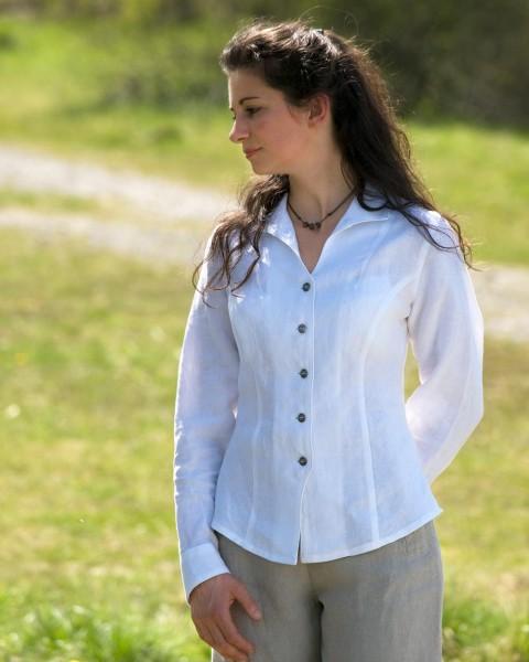 """Damen Bluse """"Anna Belle"""", Luzifer, 100% Leinen"""