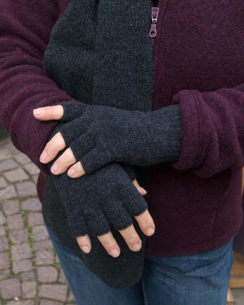 Damen Fingerlose Handschuhe, Ganterie, 100% Wolle, 5 Farben