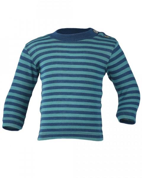 Baby Shirt mit Schulterk., Wolle Seide, Engel Natur