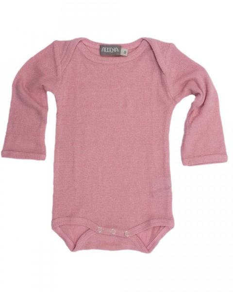 Alkena Baby Body langarm, 100% Bourette Seide