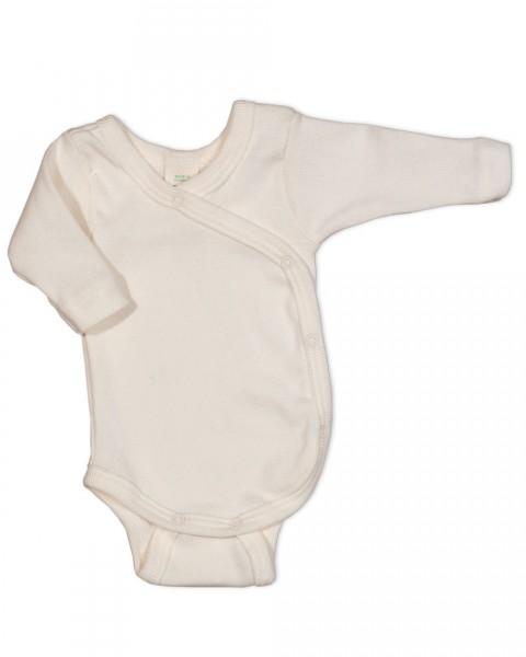 Baby Wickelbody für Frühchen langarm, 100% Baumwolle (kbA)