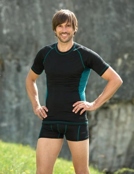 Herren Sport Shirt kurzarm, Engel Sports, Wolle Seide, maschinenwaschbar