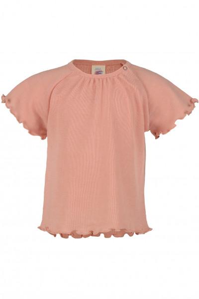 Engel Natur, Baby Shirt gerüscht, 70% Wolle (kbT), 30% Seide