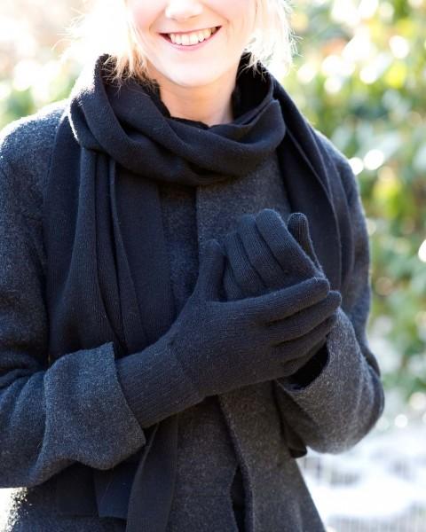 Damen Fingerhandschuhe, Ganterie, 100% Wolle, 5 Farben