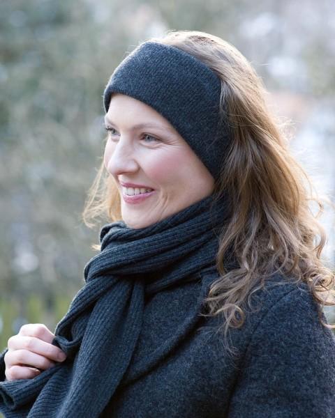 Damen Stirnband, Ganterie, Wolle mit Baumwollfutter, 4 Farben