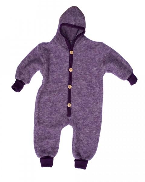 Cosilana Baby-Fleece-Overall mit Bündchen, 60 % Wolle (kbT) 40 % Baumwolle (kbA)