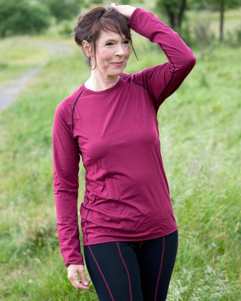 Damen Sport Shirt, casual fit, Engel Natur, Wolle Seide, maschinenwaschbar