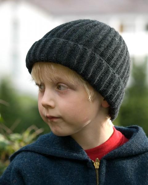 Kinder Mütze, Ganterie, 100% Wolle, 4 Farben