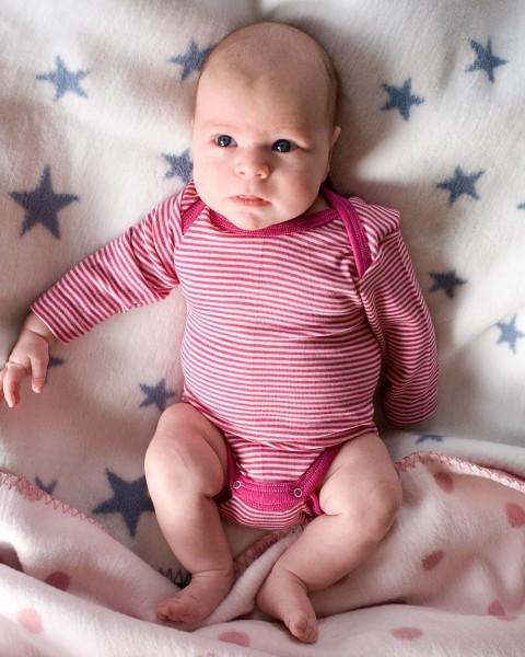 Cosilana Baby-Body langarm, 70% Wolle (kbT) 30% Seide, 14 Farben
