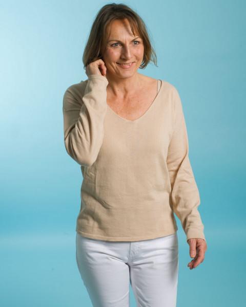 Lana, Leichter V-Pullover, 100% Baumwolle (kbA)