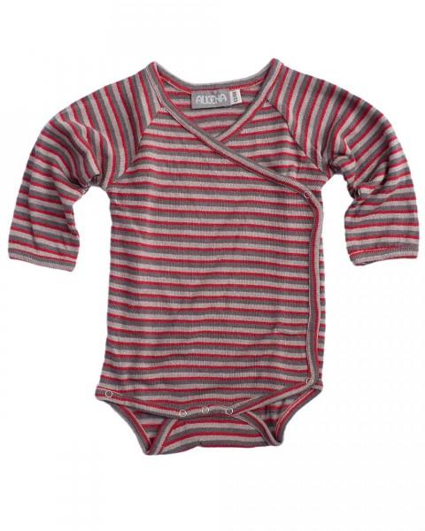 Baby Wickelbody langarm, Alkena, 100% Seide (Bourette)