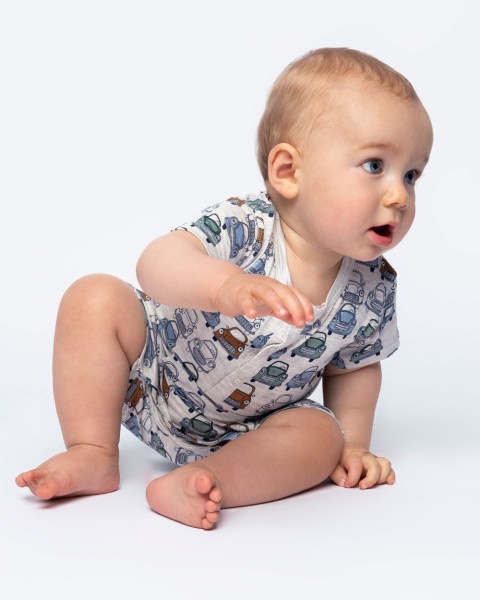 Hust and Claire, Baby Spieler / Anzug, 95% Viskose Bambus, 5% Elasthan
