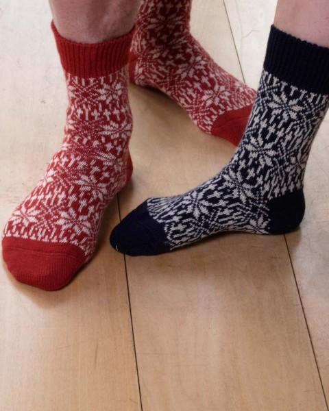 Stern Socken, Hirsch Natur, 100% Wolle (kbT)