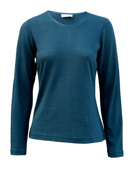 Damen langarm Shirt, 100% Bourette Seide