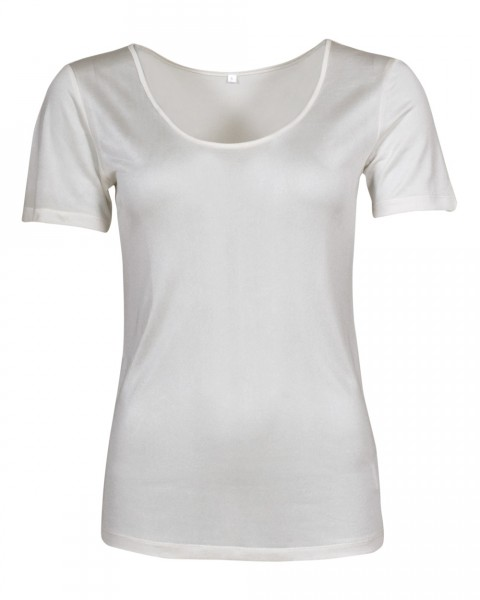 Damen Unterhemd halbarm, 100% Seide, 92 gr./m²