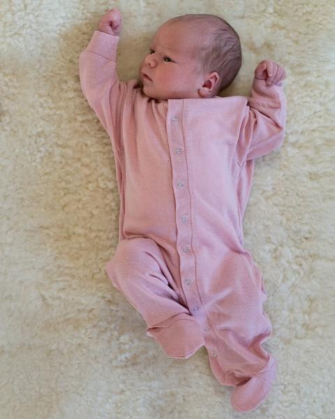 Baby Schlafanzug / Strampler, 100% Bourrette Seide
