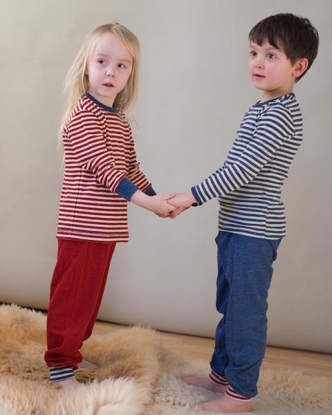 Leichter Kinder Schlafanzug, 100% Wolle (kBT)