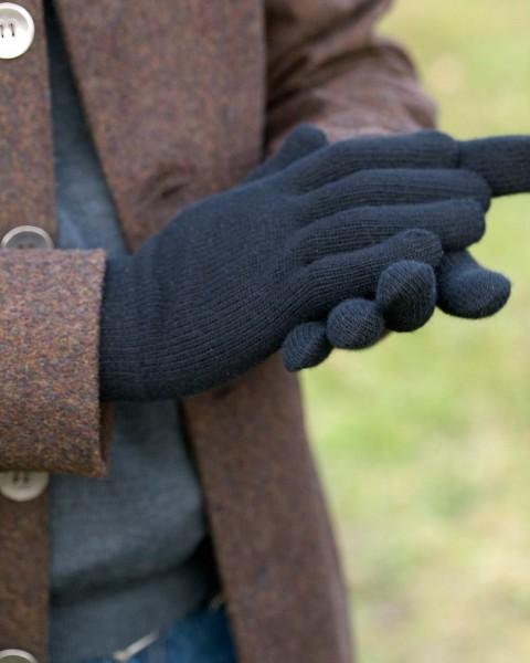 Foster-Natur, Herren Finger Handschuhe, 100% Wolle