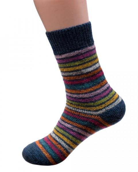 Ringel Socken, Hirsch Natur, 100% Wolle