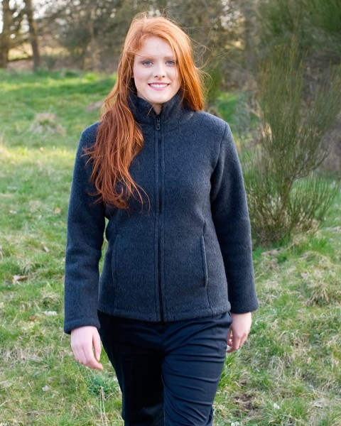 Damen Fleecejacke, Engel Natur, 100% Wolle (kbT), 5 Farben