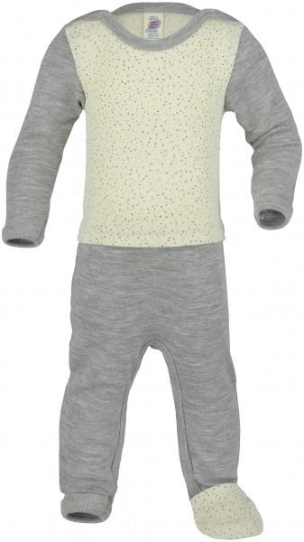 Engel Natur, Baby-Overall mit Fußumschlag, Wolle Seide