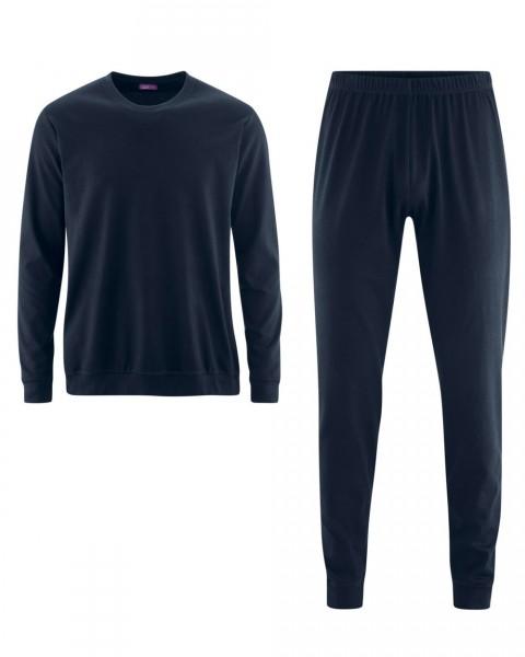 Schlafanzug für Damen und Herren, 100% Baumwolle (kbA), 2 Farben