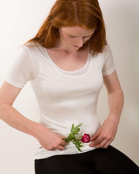 Damen Unterhemd halbarm, KokonZwo, 100% (kbT), 92 gr./m²