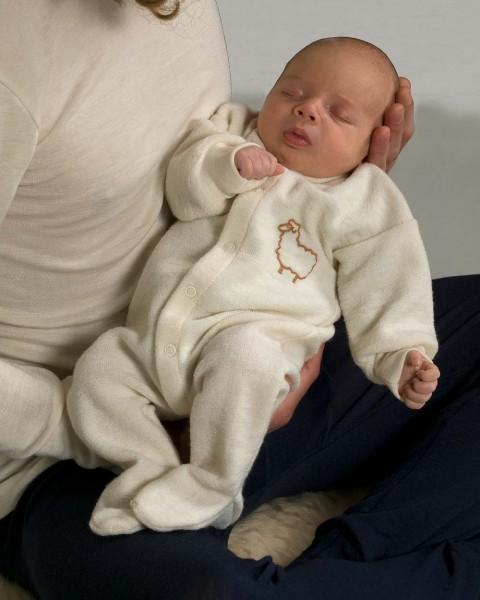 Baby Overall für Frühchen, Engel Natur, 100% Wolle (kbT)