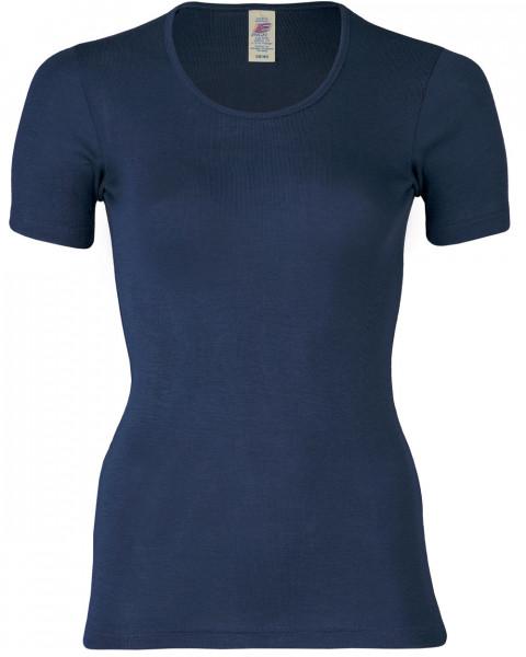 Damen Unterhemd kurzarm, Wolle Seide