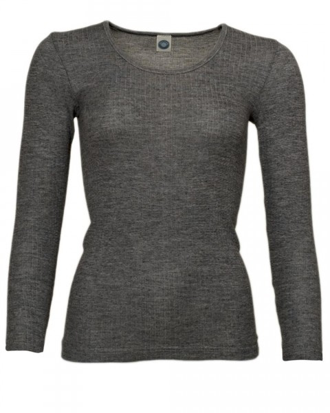 Cosilana, Damen Unterhemd langarm, 45% Baumwolle (kbA,) 35% Wolle (kbT), 20% Seide
