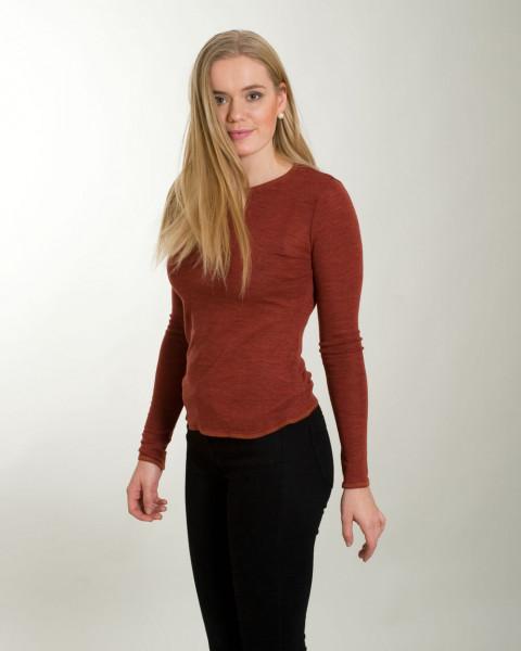 Jalfe, Damen Wollshirt, 100% Wolle, 4 Farben