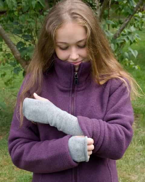 Foster-Natur, Sportlich feine Armstulpen, 100% Wolle