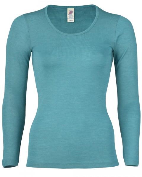Damen Unterhemd langarm, 7 Farben, Engel Natur, Wolle Seide