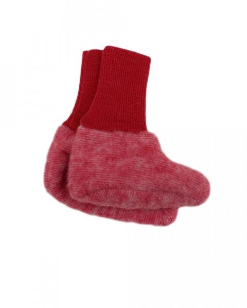Baby Schühchen Fleece, Cosilana, 100% Wolle (kbT), 4 Farben