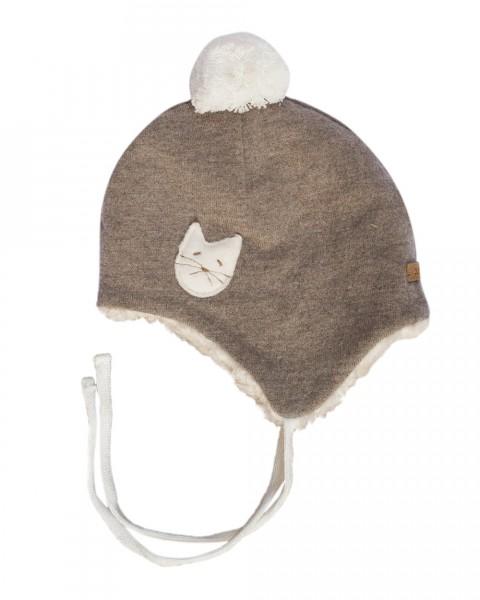 Baby und Kleinkind Wintermütze Wolle mit Baumwollfutter