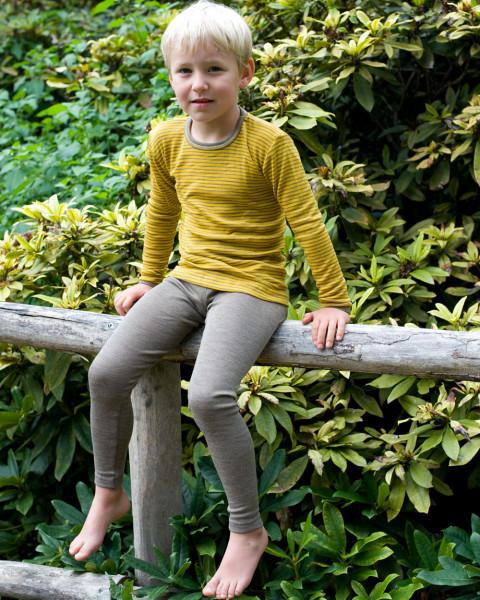 Kinder Leggings, Engel Natur, Wolle Seide, maschinenw.