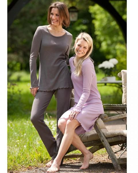 Damen Pyjamahose, Engel Natur, Wolle Seide, 2 Farben
