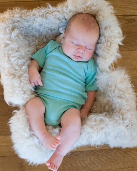 Baby Body kurzarm, Alkena, 100% Seide (Bourette)