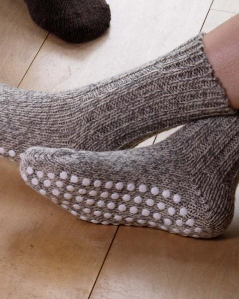 Stopper Socken, Hirsch Natur, 100% Wolle (kbT)