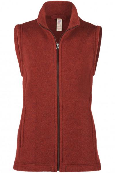 Damen Fleece Weste, Engel Natur, 100% Wolle (kbT), 5 Farben