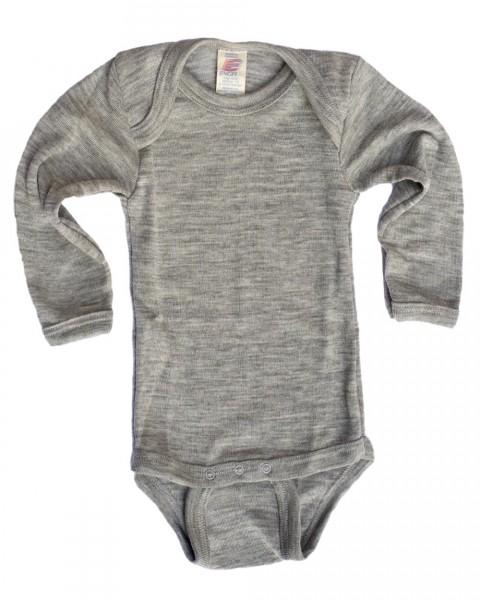 Baby Body langarm, Engel Natur, Wolle Seide, 2 Farben