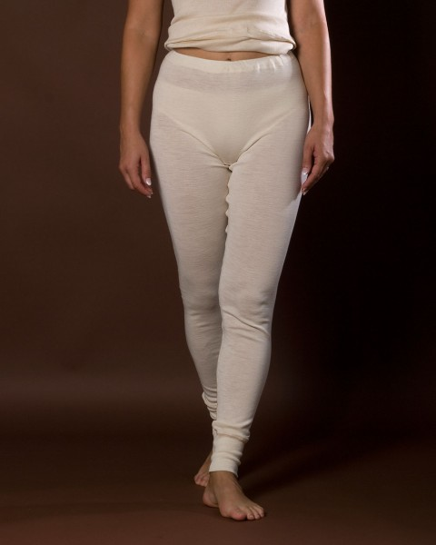 Damen lange Unterhose, Engel Natur, 100% Wolle (kbT)