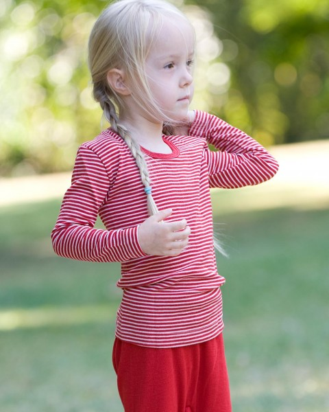 Cosilana Kinder-Unterhemd langarm, 70 % Wolle (kbT) 30 % Seide, 10 Farben