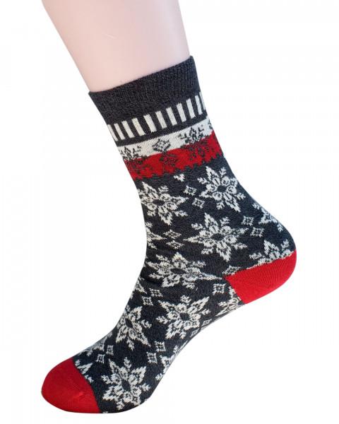 Grödo, Schneestern Socken, 98% Baumwolle, 2% Elasthan