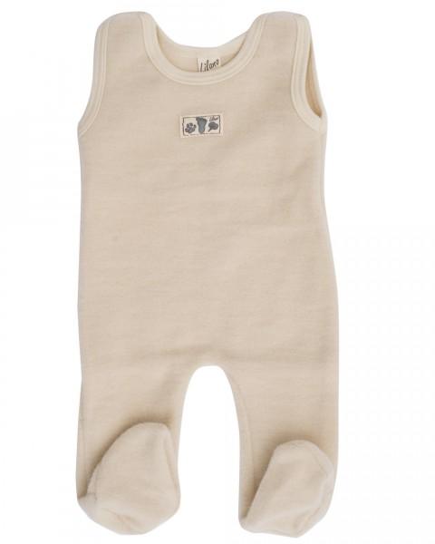 Lilano Baby Strampler, 100 % Wollfrottee-Plüsch (kbT)