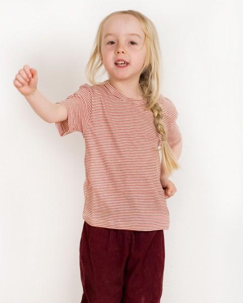 Kinder Shirt kurzarm, Lilano, 70% Baumwolle (kbA), 30% Seide