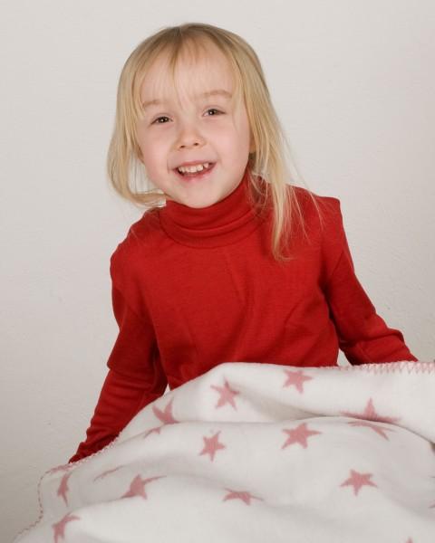 Cosilana Kinder-Rollkragenpullover, 70% Wolle (kbT) 30% Seide