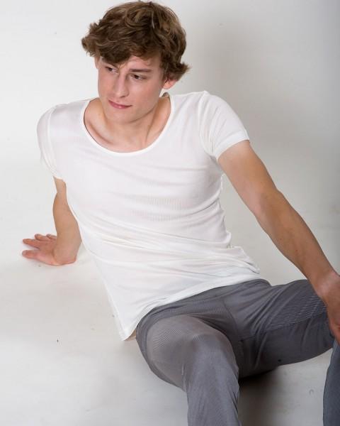 T-Shirt Seiden-Ripp, Alkena, 100% Seide (kbT)